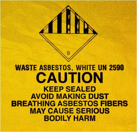 asbestos, caution, warning